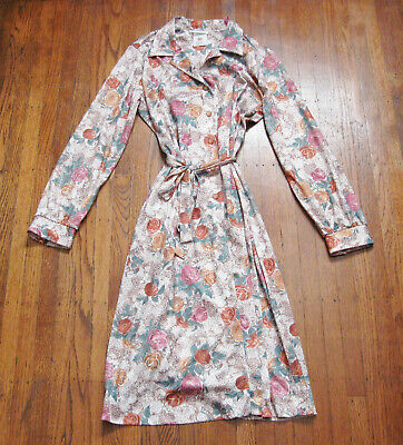 AU51 • Buy 1970s Vintage Clothing Ina Carol Floral Rose Secretary Dress Sz 12 1/2  Made USA