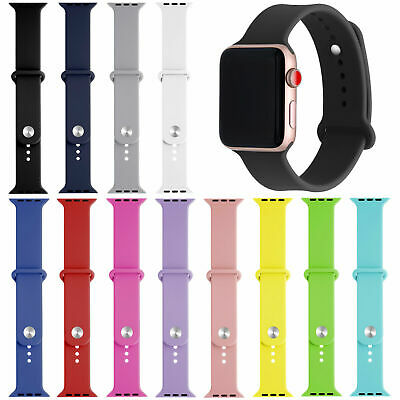 AU9.99 • Buy Multicoloured Apple Watch Silicone Wristband 38mm- 44mm For Series 5 4 3 2 1