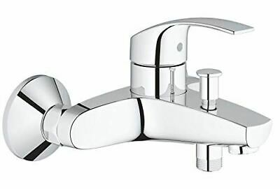 GROHE 33300002 Eurosmart Single-Lever Bath/Shower Mixer Tap, Wall Mount, Chrome • 75£