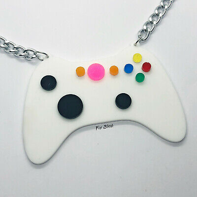 Retro Gaming Controller Laser Cut Acrylic Necklace UK Statement Funky Gamer • 8.99£