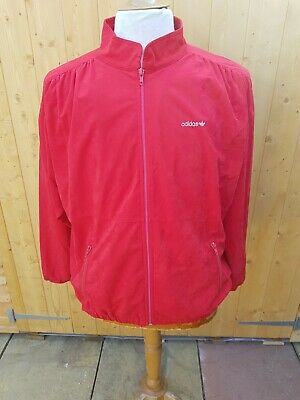 Ladies Vintage Adidas Tracksuit Track Top Jacket XL Velour West Germany • 20£