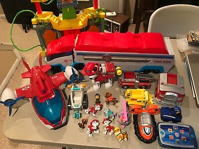 $59.99 • Buy Paw Patrol Huge Lot Monkey Temple Vehicles Command Center Figures And More