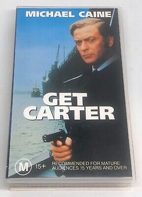 Get Carter. (1971). Michael Caine. VHS Tape - PAL. Very Good Condition. • 8.18£