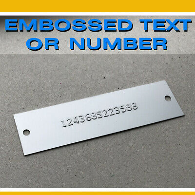 £28.92 • Buy Data Plate Embossed Serial Number Number Hin Trailer Boat Chevy Gmc