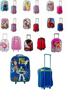 Childrens Trolley Suitcase Cabin Bag Luggage Disney Toy Story Frozen Spiderman • 12.90£