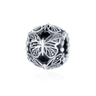 AU26.99 • Buy SOLID Sterling Silver Vintage Butterfly Garden Charm By Pandora's Wish