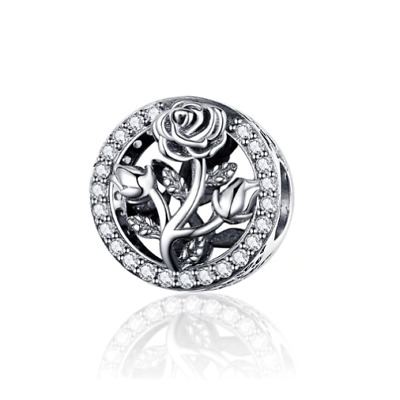 AU26.99 • Buy SOLID Sterling Silver Beauty & Beast Magic Rose Charm By Pandora's Wish
