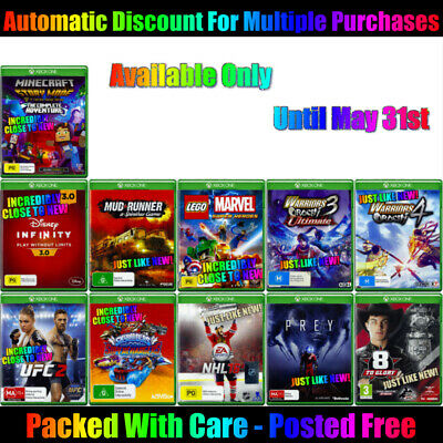 AU16 • Buy 🎮 Xbox One ☞ Your Choice Of Gently Pre-owned Games! ☜  24/05/20