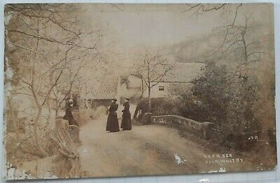 Whitby Scarce RP Glen Esk With 3 Ladies On Bridge By J T Ross (No 141) • 15£