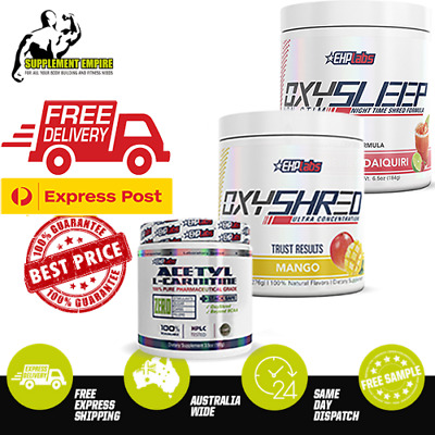 AU138.30 • Buy EHP Labs Oxyshred  Fat Burner Thermogenic & OxySleep & L-carnitine CUTTING STACK