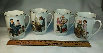 $ CDN23.70 • Buy Norman Rockwell Coffee Mug Lot Set Of 4