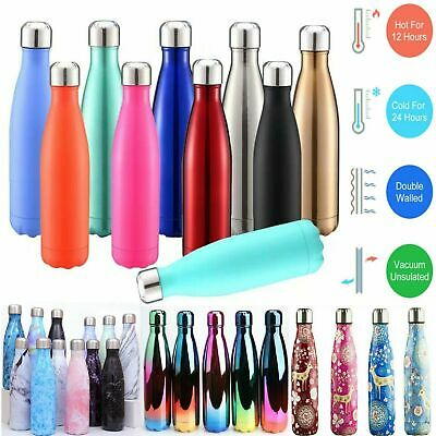 AU20.69 • Buy 350-1000ML Stainless Steel Thermos Travel Mug Flask Thermal Hot Water Insulated