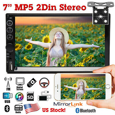 $89.99 • Buy 7  2DIN Car MP5 Player Touch Screen HD Stereo Radio Mirror Link For GPS + Camera