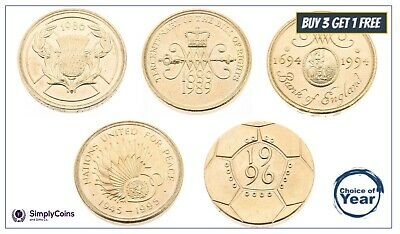 Two Pound Coins £2 1986, 1989, 1994, 1995, 1996 - Choose Your Year - Old Large • 3.99£