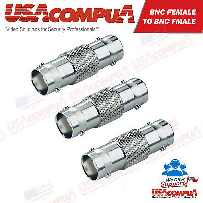 $ CDN4.24 • Buy  3PCS BNC Female To BNC Female Cable COAX Connector Adapter For CCTV Camera