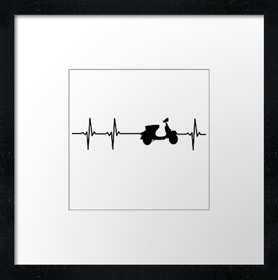 Scooter Heart Print Or Canvas. Example Shown 10  Framed Print, ONLY £21.50  • 34.50£