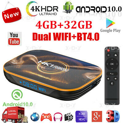AU59.28 • Buy HK1 R1 Android 10.0 4+32G Smart TV BOX Dual WIFI BT4.0 Quad Core Media Streamer