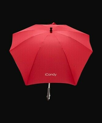 ICandy Sun Parasol Canopy Universal NEW Sealed Uv Protection Baby Pram Red • 22.99£