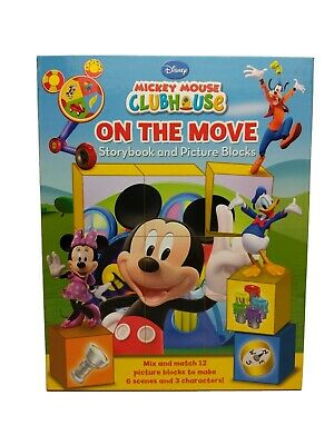 £4.99 • Buy 2011 Disney Junior MICKEY MOUSE Clubhouse ON THE MOVE Storybook & Picture Blocks
