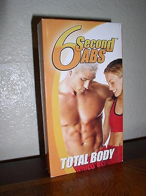 AU8.83 • Buy 6 Second Abs: Total Body (VHS)