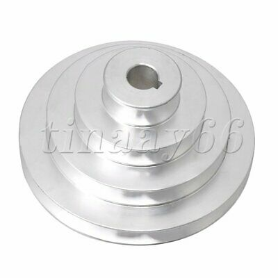 AU17.54 • Buy Aluminum 16mm Bore Dia 4 Step Belt Pulley A Type V-Type For Motor Shaft Drive