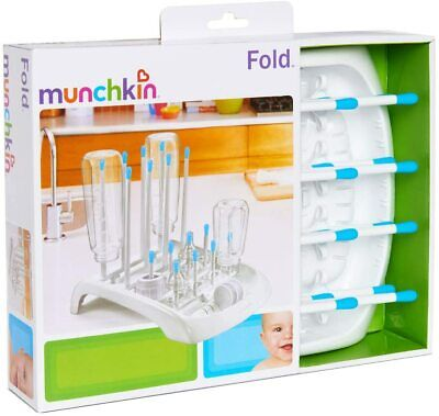 £10.23 • Buy Munchkin Fold-Up Baby Bottle Cups Pump Parts Drying Rack Drainer