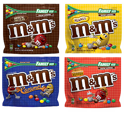 $15.87 • Buy M&M's Family Size Assorted Chocolate Candies $15.87 FREE SHIPPING!!