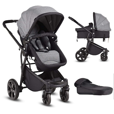 $187.05 • Buy Infant Stroller, 2-in-1 Convertible Bassinet, Foldable Baby Carriage With Foot C