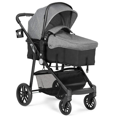 $199.53 • Buy Baby Stroller, 2 In 1 Convertible Carriage Bassinet To Stroller, Pushchair With