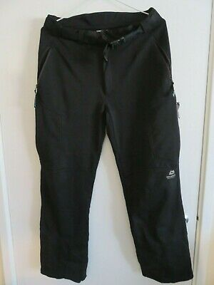 Mountain Equipment G2 Mountain Pant Large Black Softshell Windstopper • 65£