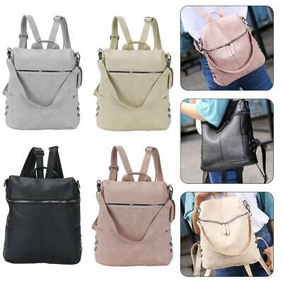 Women Leather Backpack Anti-Theft Rucksack School Travel Shoulder Bag Satchel • 5.59£