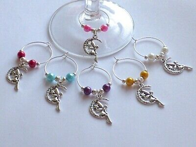 £3.49 • Buy 6 X Silver Plated Tinkerbell / Fairy Wine Glass Charms Birthday Gift Hen Party