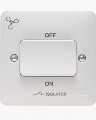 Hager Sollysta 3 Pole Isolator Switch 10a 250v Wmps3pif **free Delivery** • 6.40£