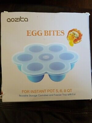 $11.95 • Buy Aozita Silicone Egg Bites Mold For Instant Pot Accessories - Fits 5,68 Qt NIB