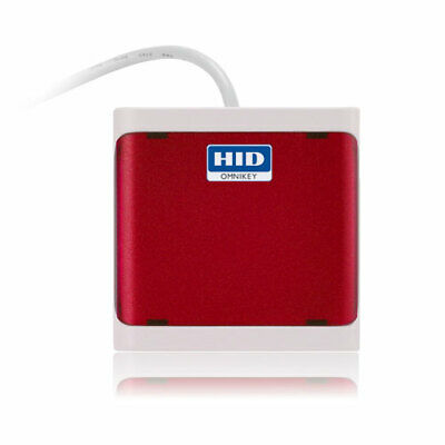 New HID OMNIKEY 5021 CL Red HF Mifare IClass Card Reader USB R50210218 • 32.99£