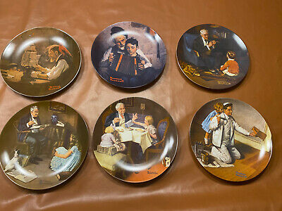 $ CDN45.41 • Buy Lot Of 6 Norman Rockwell Collector Plates
