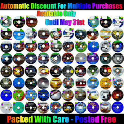 AU9 • Buy Choice Of ☞ DISC ONLY GAMES ☜ Xbox One Ps4 Ps3 Xbox 360 Wii Wii U Xbox Ps2 20/05