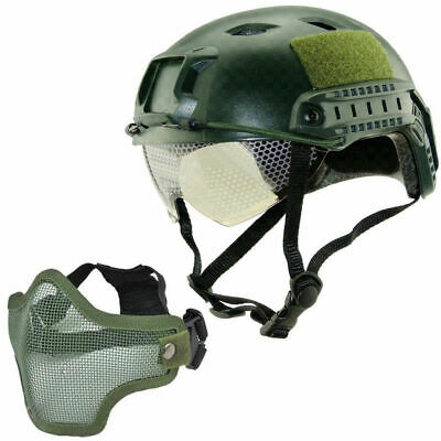 $29.81 • Buy Military Tactical Airsoft Paintball SWAT Protective Fast Helmet W/ Goggle + Mask