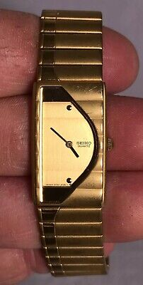 $ CDN43.57 • Buy Womans Seiko Wrist Watch 2Y00-5G10 Japan Gold Tone New Battery 20mm 6""
