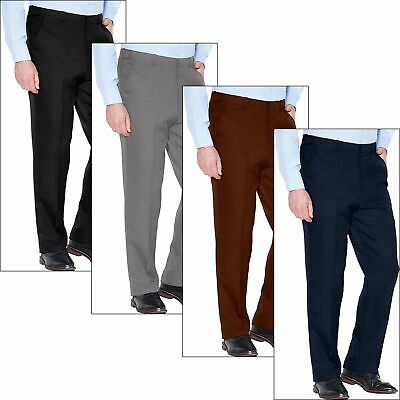 BHS Mens Chino Classic Fit Trouser 100% Cotton Active Elasticated Waist 30-42 • 6.99£