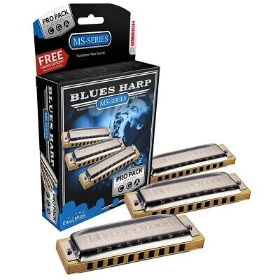 $150.31 • Buy Hohner Blues Harp Pro Pack - Pro Pack 3-harmonicas Keys G, A & C Made In Germany
