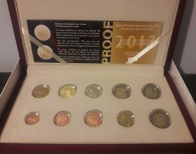 $ CDN257.05 • Buy Best Price🅰 Greece 2013 PROOF 8 EURO Coin Set🅰 With 2 Euro Coins Commemorative