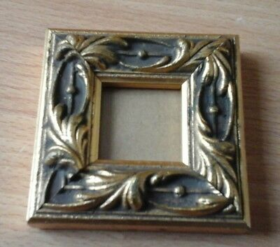 Miniature Photo Frame Chunky Wooden French Baroque Rococo Gesso Apprentice Gilt • 9.95£