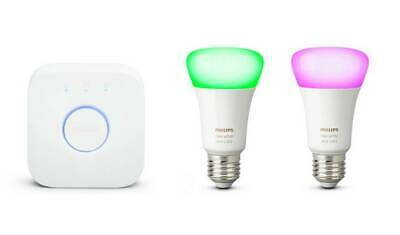 AU180.32 • Buy BRAND NEW Philips Hue White And Colour Ambience E27 Starter Kit