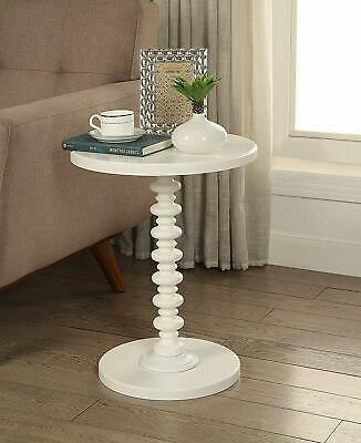 $86.23 • Buy Off White Wooden Spindle Table Round Top Pedestal Accent End Side Furniture