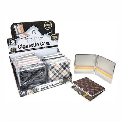 Luxury Cigarette Metal Case Crush Proof Body Hold Upto 20 (Any Assorted Colour) • 3.99£