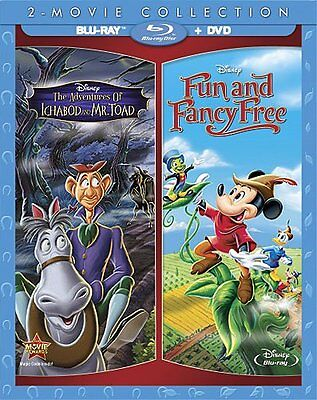 Adventures Of Ichabod And Mr. Toad Fun & Fancy Free Reluctant Dragon Blu-ray DVD • 39.99£