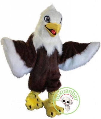 Halloween Long Fur Eagle Mascot Costume Suits Adults Cosplay Party Dress Xmas • 204.91£