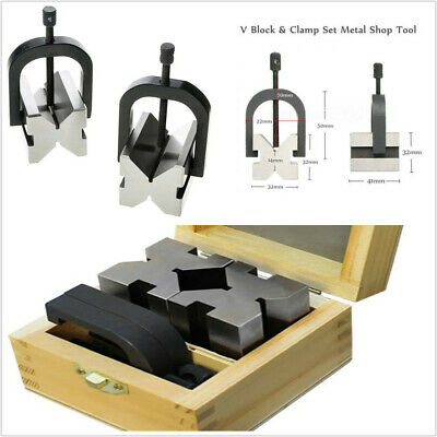 $51.70 • Buy 7/16 To 13/16'' Precision Hardened Steel Machinist Tool 90° V Block & Clamp Set