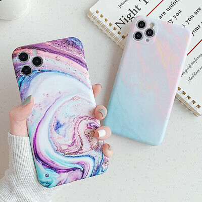 AU4.97 • Buy Gradient Marble Colorful Soft Phone Case Cover For IPhone 11 Pro XS Max 7 8 Plus